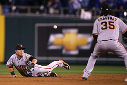 Joe Panik flips to Brandon Crawford to start double play in Game 7 of the World Series, 2014 World Series Champion Giants