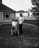 1972 - Author Christy Brown and fiancé Miss Carr at Lisheen, Stoney Park, Rathcoole