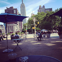 Breakfast outside Madison Square Park across near the Empire State Building.