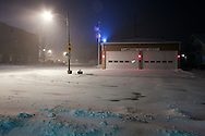 View of the huge snowstorm hitting the Midwest tonight, from Elmwood, IL.