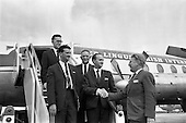 1963 - Departure of delegates to Furniture Congress in Zurich from Dublin Airport