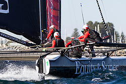 2nd March 2016. Fremantle, WA. World Match Racing Tour.  Keith Swinton, Black Swan Racing.