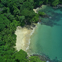 Located off the west coast of Panama, Isla Pedro Gonzalez is the third largest island within the Pearl Archipelago. Known for its untouched coastline, and gentle, sloping vegetation, the island has twelve undeveloped beaches, fifteen square kilometers of forest and one existing fishing village home to about 400 residents. Sustainable development project will be done by the Panamenian Grupo Eleta (owners) and Dolphin Capital Partners from Greece. Master plan will be conducted by Duany Plater - Zyberk & Company .Pictured: Island before any human impact or construction.