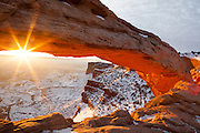 Sunrise through Mesa Arch, Canyonlands National Park, Utah