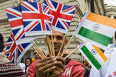 2015-11-12 Demonstrations ahead of Indian PM Modi's Downing Street visit.