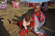 Masai Mara tribe around the Masai Mara National Park. Kenya. East Africa.
