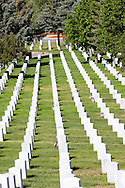 Rows of Tombstones, Santa Fe National Cemetery, New Mexico