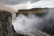 Overlooking the mighty Dettifoss waterfall in north-east Iceland