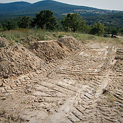 The mass grave for migrants near the town of Sidiro, Evros, Greece. The graveyard as well as the graves are unmarked, unidentified, and unnumbered. There are currently upwards of 250 bodies apparently buried at the site, taken care of by the Mufti.