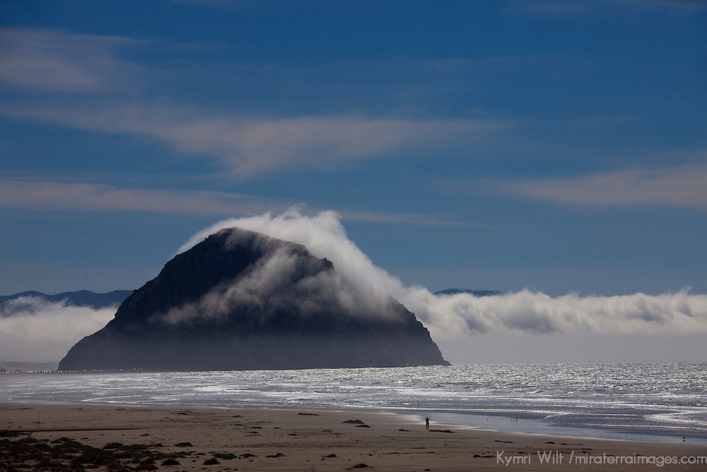 USA, California, San Luis Obispo. Morro Rock at Morro Bay State Park.