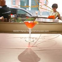 One of Estancia restaurant's signature drinks The Estancia Cosmopolitan. Shot on May 25th, 2007..Photo Credit; Rahav Segev/Photopass