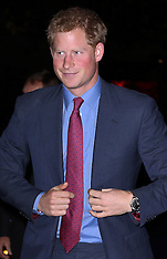 SEP 26 2013 Prince Harry at MapAction reception