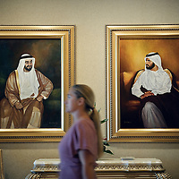 Abu Dhabi, United Arab Emirates, 06 April 2009<br /> Paintings in the main entrance of the Emirates Palace.<br /> Photo: Ezequiel Scagnetti