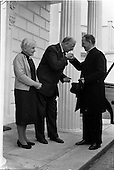 1962 - Papal Nuncio farewell visit to President at Aras an Uachtarain