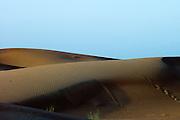 Peaceful desert sunset in Arabian Peninsula