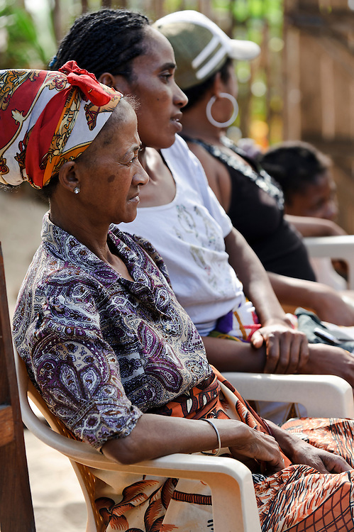 Women at a group meeting, Amparihy, Fort Dauphin, Madagascar. Azafady's mission is to alleviate extreme poverty and protect endangered, biologically rich forest environments in Madagascar by empowering some of the poorest people to establish sustainable livelihoods and improve their health and wellbeing. Their aims are to raise awareness about the plight of the Madagascan environment and the Malagasy people; to empower Malagasy people to improve their own lives; and provide support to communities and threatened environments. Azafady's approach is one of co-operation and participation with grassroots communities working to alleviate the effects of poverty and to support viable, environmentally sensitive development. Their holistic development and conservation projects support some of the world's most vulnerable people in threatened & irreplaceable environments. At the heart of the charity's work is an integrated approach to the needs of the Malagasy people and their unique environment, sensitively built around what local people have told the charity are their most critical needs and which maximises community participation. Azafady develop projects using the Sustainable Livelihoods model for poverty reduction, which aims to reduce vulnerability by strengthening communities' human, natural, financial, social and physical assets with a caveat that the charity's projects and activities do not compromise the environment. Projects incorporate communication, training and support at the level of the Fokontany (village) and the household, with a priority for the most isolated and marginalised communities. The charity has recently recruited a Research, Monitoring and Evaluation Manager, who will implement Azafady's new HIV/AIDS activities with pregnant and married women, with the aim of reducing rates of maternal transmission of HIV within the town.
