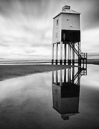 The Low lighthouse in Burnham-on-Sea, Somerset. The wooden structure was constructed in 1832, and is a Grade II listed building.