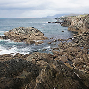 View along the Atlantic Coast Drive, on Achill Island, County Mayo, Ireland.