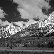 South Grand Tetons, WY - Infrared Black & White
