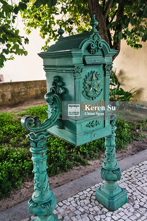 Antique postal  box, Belem, Para State, Brazil