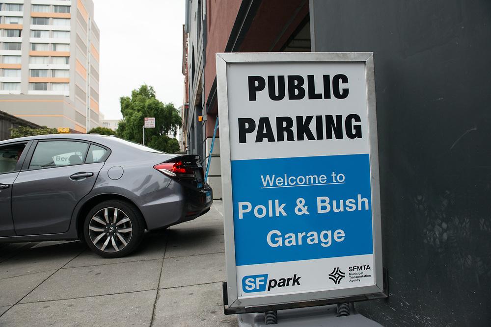 New Signage at Polk and Bush Garage | April 11, 2017