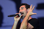 Serj Tankian of System of a down performs live on the main stage during day one of Reading Festival at Richfield Avenue on August 23, 2013 in Reading, England.  (Photo by Simone Joyner)