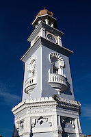 To commemorate Queen Victoria's 1897 Diamond Jubilee, a Jubilee Clock Tower was constructed in George Town, Penang at the time a British Straits Settlement in the same year at junction of Light Street and Pantai Street. Built in a Moorish style the tower is sixty feet tall, one foot for each year of Victoria's reign.