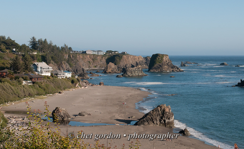 General view of Harris Beach State Park in Brookings, OR on Monday, July 26, 2016.  © Chet Gordon • Photographer