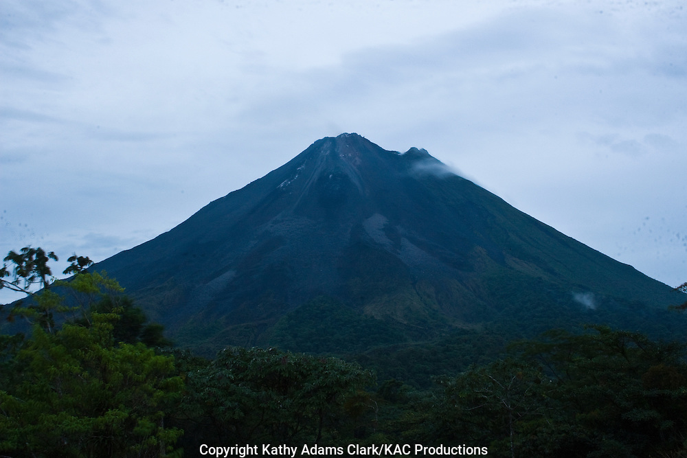 Arenal Volcano erupting, Arenal Observatory Lodge, north central costa rica.