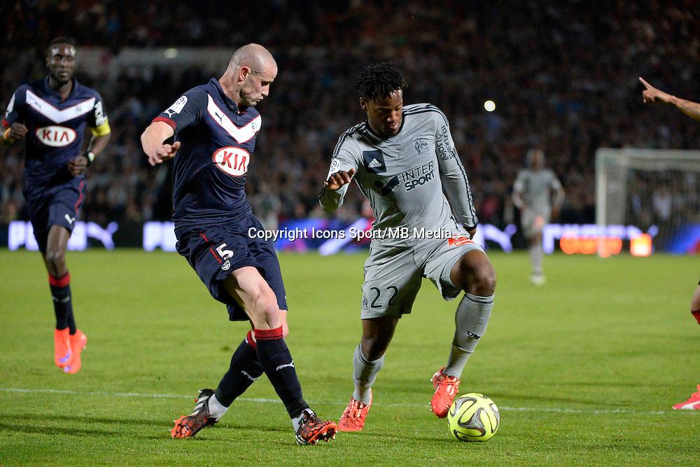 Nicolas PALLOIS / Michy BATSHUAYI - 12.04.2015 - Bordeaux / Marseille - 32eme journee de Ligue 1 <br />Photo : Caroline Blumberg / Icon Sport *** Local Caption ***
