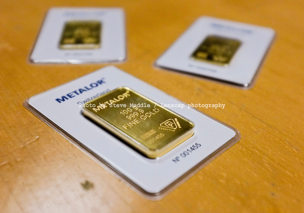 100g Gold Bar Made by Swiss refiners Metalor - Nov 2011