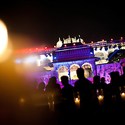 An Indian wedding reception at a palace in Jaipur