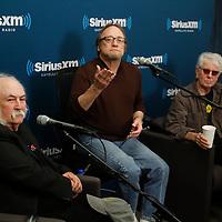 Crosby , Stills and Nash visit SiriusXM on October 17, 2012...Left to right , David Crosby, Steven Stills, Graham Nash
