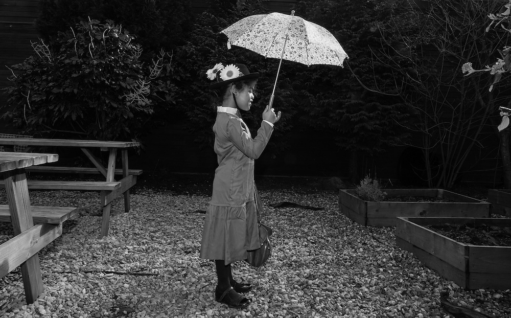 Lilly dresses as Mary Poppins for World Book day at School in Berkhamsted , England Thursday, March 3, 2016 (Elizabeth Dalziel) #thesecretlifeofmothers #bringinguptheboys #dailylife