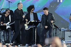 SAN DIEGO, CA - OCTOBER 15: Miguel Bose and Fonseca perfoms onstage at RiseUp AS ONE concert hosted by Univision and Fusion at Cross Border Xpress (CBX) on October 15, 2016 in San Diego, California, USA. Byline, credit, TV usage, web usage or linkback must read SILVEXPHOTO.COM. Failure to byline correctly will incur double the agreed fee. Tel: +1 714 504 6870.