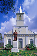 Image of St. Martin de Tours Roman Catholic Church in St. Martinville, Louisiana, American South, Cajun country