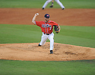 Ole Miss' David Goforth (7) vs. Auburn during the Southeastern Conference tournament at Regions Park in Hoover, Ala. on Friday, May 28, 2010.  (AP Photo/Oxford Eagle, Bruce Newman)