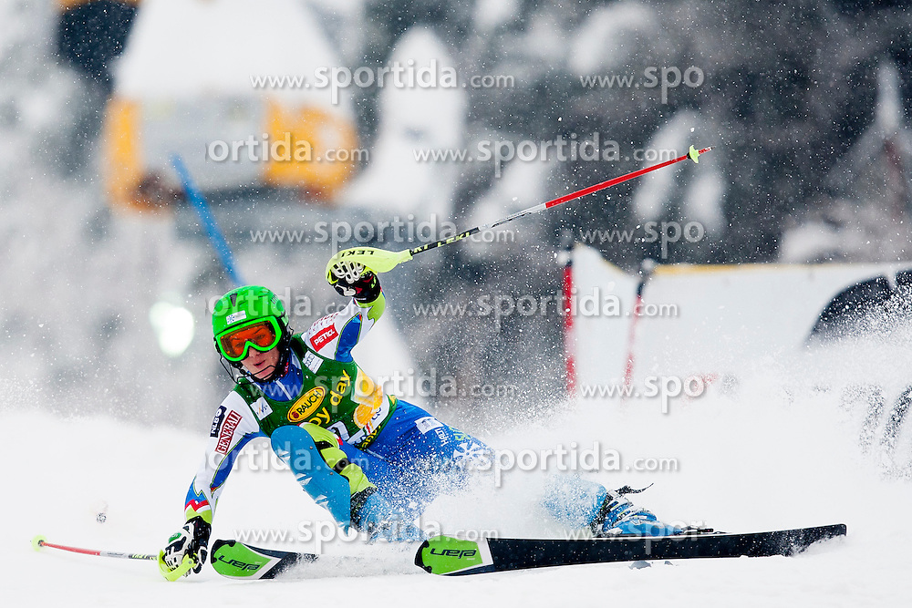BREZOVNIK Sasa of Slovenia during 1st Run of 50th Golden Fox Audi Alpine FIS Ski World Cup Ladies Slalom, on February 2, 2014 in Podkoren, Kranjska Gora, Slovenia. (Photo By Urban Urbanc / Sportida.com)