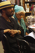 "l to r: Anthony Chisolm and Ruby at the reading of ' Letters from Black America "" A Dramatic Reading with Editor Pamela Newkirk and actors Ruby Dee and Anthony Chisholm held at Barnes & Noble at 82nd Street on July 15, 2009 in New York City"