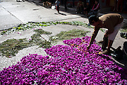 During Holy Week in Ayacucho, Peru, carpets are made of flowers, leaves and other materials that pave the way for the many processions throughout the week.