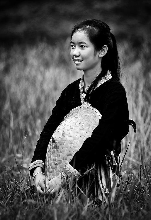 A girls portrait in Luang Prabang, Laos.
