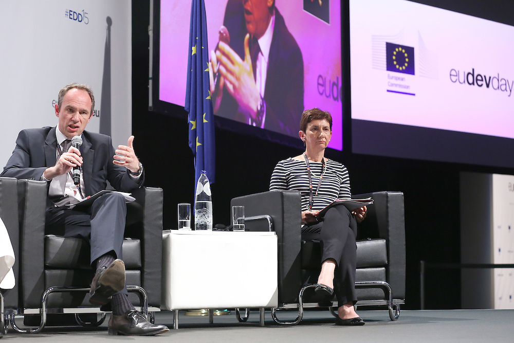 03 June 2015 - Belgium - Brussels - European Development Days - EDD - Trade - Trade for inclusive and sustainable growth - Jean-Christophe Laloux<br /> Director General and Head of Operations - Trudi Hartzenberg , Executive Director , tralac &copy; European Union