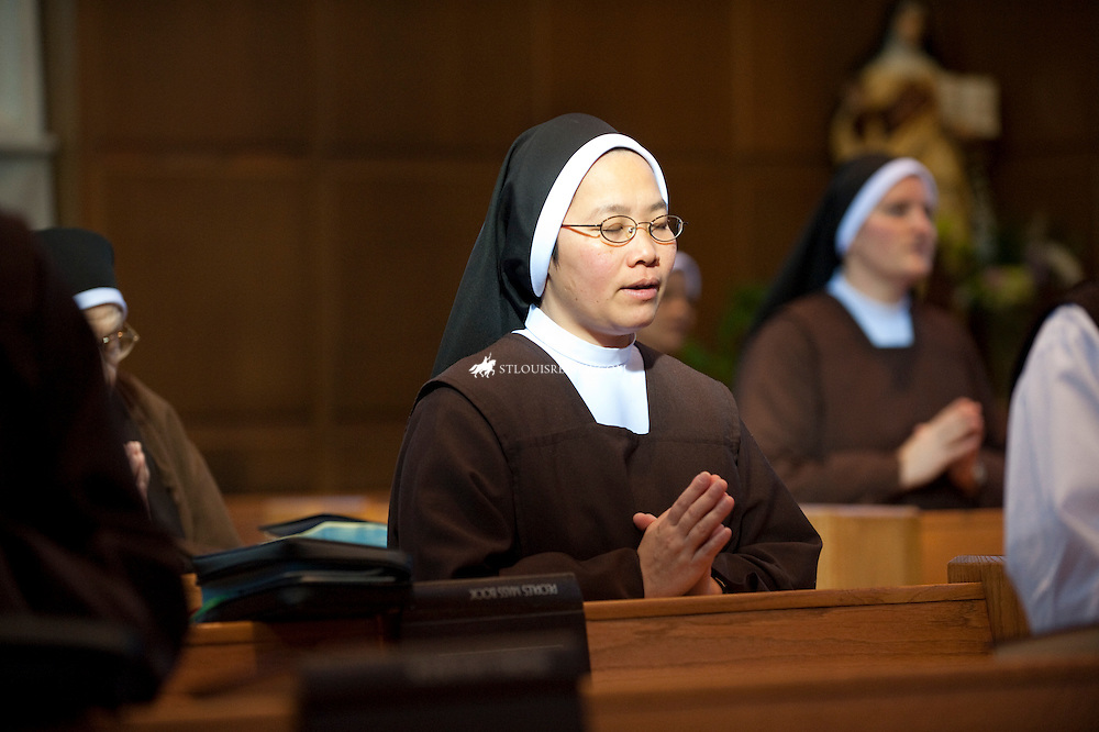 Sr. M. Laura Le,mistress of novices for the Carmelites, participated in midday prayer in the sisters' chapel earlier this week. Originally from Vietnam, she has been with the Carmelite's for 23 years.