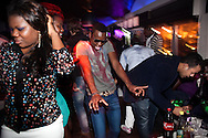 Reportage about Angolans in Lisbon, Portugal.<br /> Angolan youth crowd having fun on a saturday night in &quot;Docks Club&quot; disco in downtown Lisbon.<br /> Bruno Sim&otilde;es Castanheira / 4 SEE