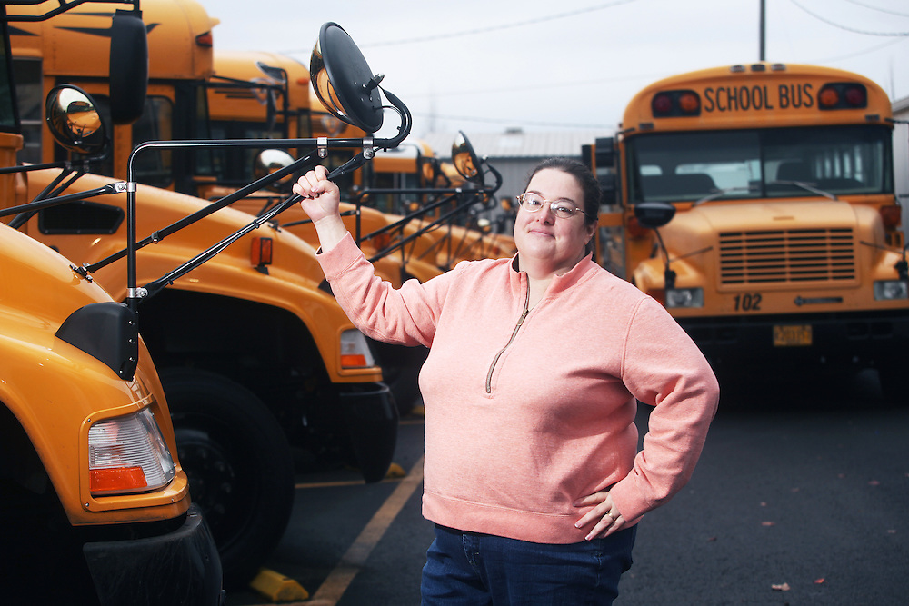 Albany bus driver Helen Jacobs is one of a group of classified employees and OEA members organizing a campaign around living wage issues. Photographed by Thomas Patterson on Tuesday, Dec. 7, 2010.