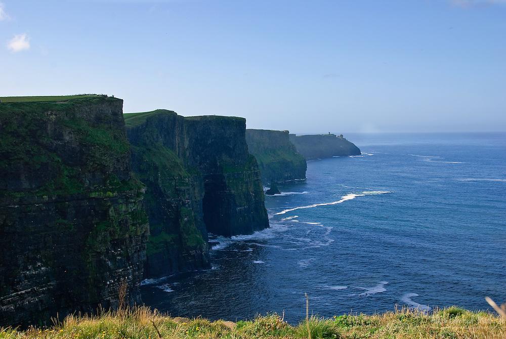 The Cliffs of Moher overlook the Atlanic Ocean in county Clare, Ireland.