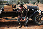 Actor Bille Brown (as George Ritchie) - 'Blood In The Sand' - on location Mt Magnet, WA - Photograph by David Dare Parker