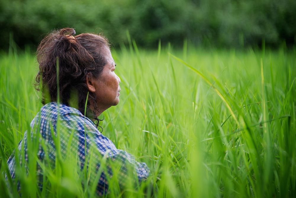 Siri in a reflective moment looking over the fields. I was wondering if she was thinking the same as what was going through my mind - will the work ever end? Nakhon Nayok, Thailand. PHOTO BY LEE CRAKER