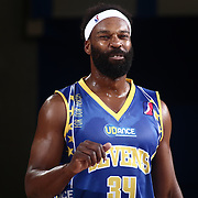 Delaware 87ers Guard BARON DAVIS (34) reacts to a call from the officials in the second half of a NBA D-league regular season basketball game between the Delaware 87ers and the Iowa Energy Friday, Mar. 04, 2016. at The Bob Carpenter Sports Convocation Center in Newark, DEL.
