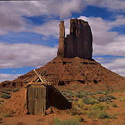 Mitten in Monument Valley Tribal Park on the Navajo Reservation, AZ.